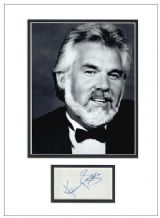 Kenny Rogers Autograph Signed Display